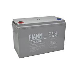Batteria FIAMM AGM 100Ah per pannelli solari fotovoltaici [12FGL100]