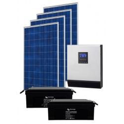 Kit solare IBRIDO 1,3 kW con batterie al Litio per baita e case di campagna