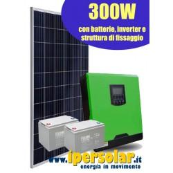 Kit solare baita / campagna 320W 12V - out 1000W
