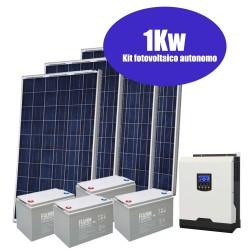 Kit solare completo 1kW [Pannelli+Inverter+Batterie]