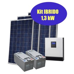 copy of Kit solare IBRIDO 1kW per baita e case di campagna