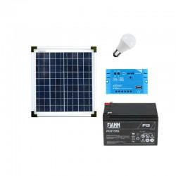 Punto luce con pannello fotovoltaico da 20W e batteria 12Ah