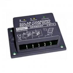 Regolatore di carica KEMO dual 16A 8A+8A Doppia Batteria [M174]