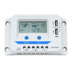 Regolatore di carica PWM 10A 12/24V con display [VS1024AU]