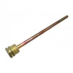 Pozzetto sonda di temperatura impianti termici - Lunghezza 20cm