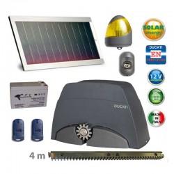 Kit solare automazione cancello scorrevole – max 400kg