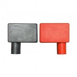 Coppia coprimorsetti per batteria Rosso e Nero - Positivo a destra