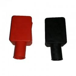 Coppia coprimorsetti dritti per batteria Rosso e Nero