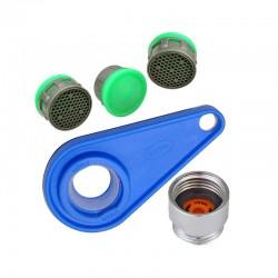 Kit risparmio idrico - Aeratori rompigetto con chiavetta