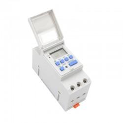 Timer digitale 12V programmabile per sistemi solari - guida DIN