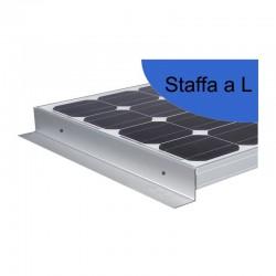 Staffe a 'L' in alluminio 1000 mm - Fissaggio moduli su camper