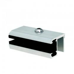 Pinza laterale per fissaggio pannelli amorfi e senza cornice