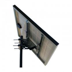 Supporto fissaggio testa palo pannelli 50-100W - Diam. palo 80mm