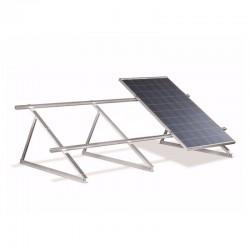 Struttura di sostegno a 45° per 4 moduli fotovoltaici su tetto