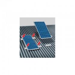 Kit fissaggio per lamiera grecata per n.3 pannelli solari