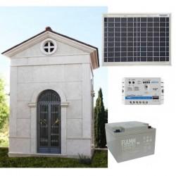 Kit solare illuminazione cappella votiva - Led 4W / pannello 50W