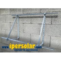 Staffa fissaggio a parete per 2 pannelli fotovoltaici